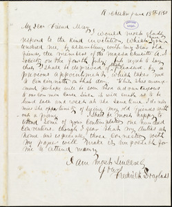 Letter from Frederick Douglass, Rochester [N.Y.], to Samuel May, Jr., June 13th 1850