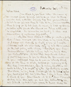 Letter from Frederick Douglass, Rochester [N.Y.], to Richard Davis Webb, Sept 12th 1850