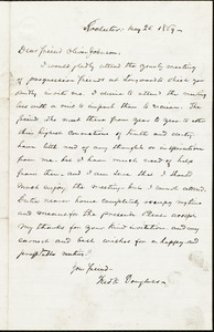 Letter from Frederick Douglass, Rochester [N.Y.], to Oliver Johnson, May 25 1869