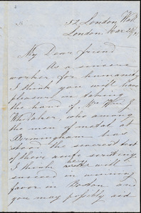 Letter from Charles Lane, London, [England], to William Lloyd Garrison, Mar[ch] 24 / [18]54