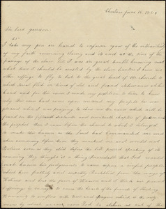 Letter from Harriet Lee, Clinton, to William Lloyd Garrison, June 16. 1854