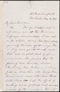 Letter from Oliver Johnson, New York, [N.Y.], to William Lloyd Garrison, May 12, 1872