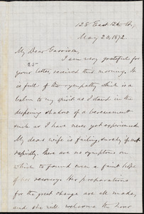 Letter from Oliver Johnson, [New York, N.Y.], to William Lloyd Garrison, May 20, 1872