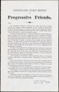 Pennsylvania Yearly Meeting of Progressive Friends