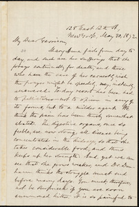 Letter from Oliver Johnson, New York, [N.Y.], to William Lloyd Garrison, May 30, 1872