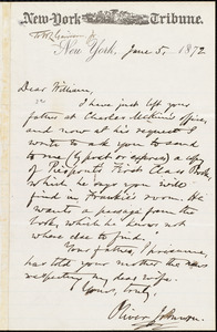 Letter from Oliver Johnson, New York, [N.Y.], to William Lloyd Garrison, June 5, 1872