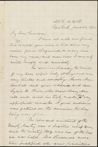 Letter from Oliver Johnson, New York, [N.Y.], to William Lloyd Garrison, June 24, 1872