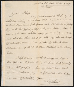 Letter from Charles Stuart, Bath, to Amos Augustus Phelps, 28 March 1841
