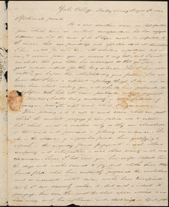 Letter from George Jeffrey Tillotson, [New Haven], to Amos Augustus Phelps, 1822 August 5