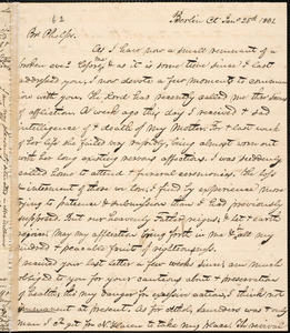 Letter from George Jeffrey Tillotson, Berlin, [Conn.], to Amos Augustus Phelps, 1831 Jan[uar]y 25th