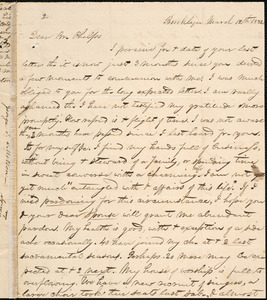 Letter from George Jeffrey Tillotson, Brooklyn, [Conn.], to Amos Augustus Phelps, 1832 March 12th