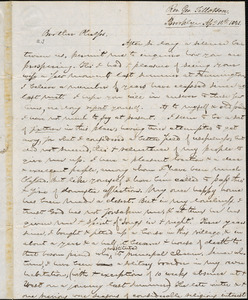Letter from George Jeffrey Tillotson, Brooklyn, [Conn.], to Amos Augustus Phelps, 1841 Ap[ri]l 14th