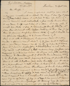 Letter from George Jeffrey Tillotson, Brooklyn, [Conn.], to Amos Augustus Phelps, 1842 Ap[ril] 21st