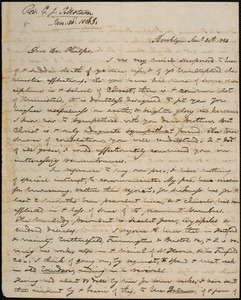 Letter from George Jeffrey Tillotson, Brooklyn, [Conn.], to Amos Augustus Phelps, 1843 Jan[uar]y 30th