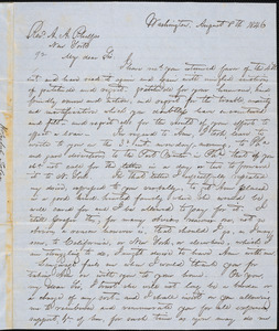 Letter from Hopeful Toler, Washington, [D.C.], to Amos Augustus Phelps, 1846 August 8th