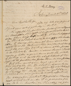 Letter from Charles Turner Torrey, Salem, [Mass.], to Amos Augustus Phelps, 1838 June 28th