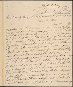 Letter from Charles Turner Torrey, Salem, [Mass.], to Amos Augustus Phelps, 1838 Aug[ust] 14th