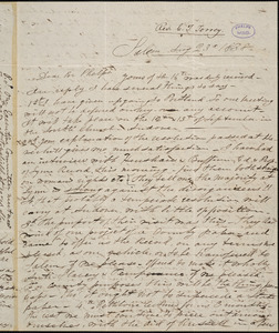 Letter from Charles Turner Torrey, Salem, [Mass.], to Amos Augustus Phelps, 1838 Aug[ust] 23d