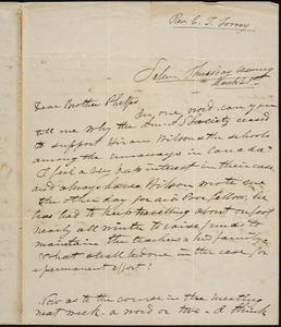 Letter from Charles Turner Torrey, Salem, [Mass.], to Amos Augustus Phelps, [1839] March 21st