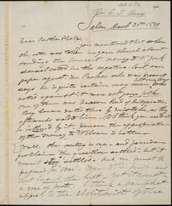 Letter from Charles Turner Torrey, Salem, [Mass.], to Amos Augustus Phelps, 1839 March 30th