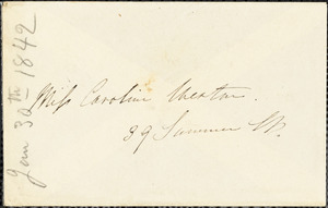 Letter from Edmund Quincy, Dedham, [Mass.], to Maria Weston Chapman, Jan. 30, [18]42