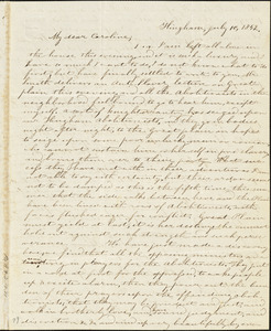 Letter from Evelina A. S. Smith, Hingham, [Mass.], to Caroline Weston, July 10, 1842