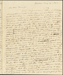 Letter from Edmund Quincy, Dedham, [Mass.], to Caroline Weston, Aug. 14, 1842