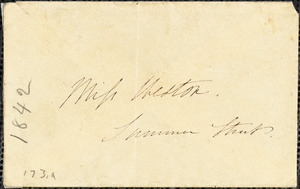 Letter from Edmund Quincy, Dedham, [Mass.], to Caroline Weston, Dec. 30, [18]42