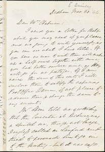 Letter from Edmund Quincy, Dedham, [Mass.], to Maria Weston Chapman, Mar[ch] 30, [18]44