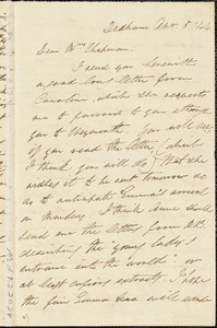 Letter from Edmund Quincy, Dedham, [Mass.], to Maria Weston Chapman, Apr[il] 5, [18]44