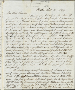 Letter from Edmund Quincy, Boston, [Mass.], to Caroline Weston, Sept. 16, 1844