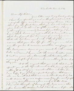 Letter from Evelina A. S. Smith, Dorchester, [Mass.], to Caroline Weston, Dec. 8, 1844