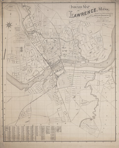 Indexed map of Lawrence, Mass. from latest official surveys published by American Publishing Co.