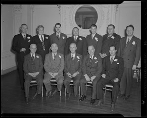 Group of men, possibly including William F. O'Brion of the Tobacco Salesmen's Association of Boston