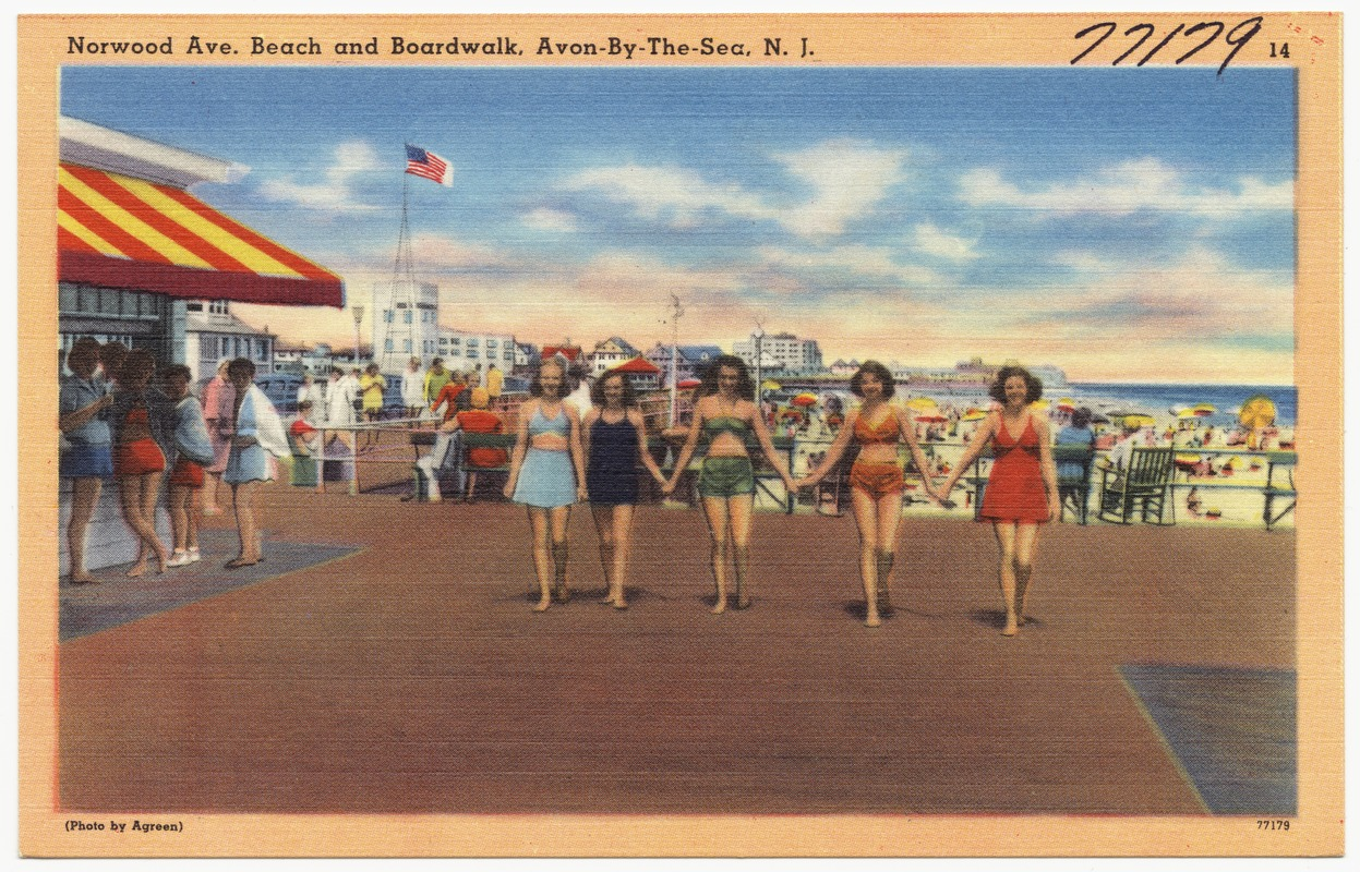 Beach And Boardwalk Avon By The Sea N J