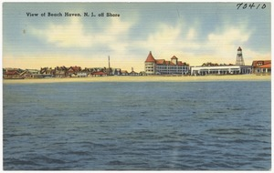 View of Beach Haven, N. J., off shore