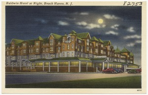 Baldwin Hotel at night, Beach Haven, N. J.