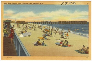 18th Ave. beach and fishing pier, Belmar, N. J.