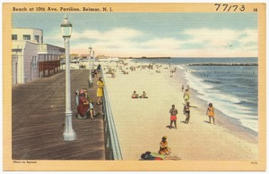 Beach at 10th Ave. Pavilion, Belmar, N. J.