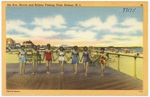 5th Ave. beach and Belmar Fishing Club, Belmar, N. J.