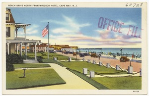Beach Drive north from Windsor Hotel, Cape May, N. J.