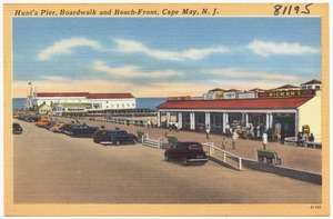 Hunt's Pier, Boardwalk and beach-front, Cape May, N. J.