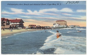 Philadelphia Ave. beach and Admiral Hotel, Cape May, N. J.