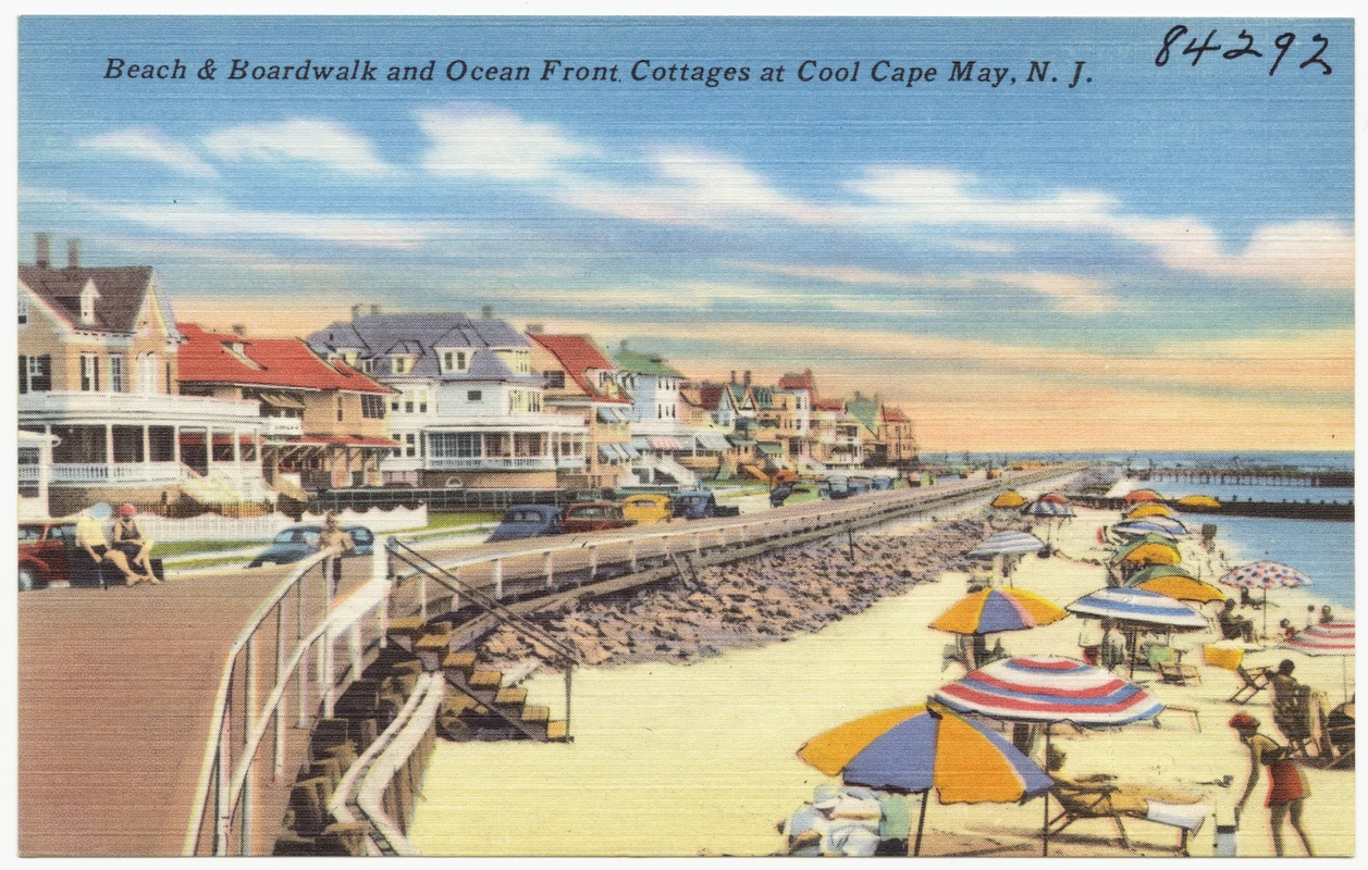 Beach Amp Boardwalk And Ocean Front Cottages At Cool Cape