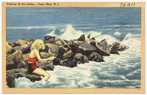 Fishing off the Jetties, Cape May, N. J.