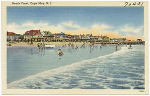 Beach front, Cape May, N. J.
