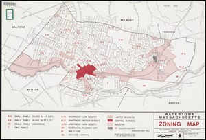 Watertown, Massachusetts zoning map