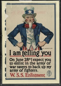 I am telling you on June 28th I expect you to enlist in the army of war savers to back up my army of fighters. W.S.S. Enlistment