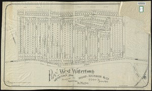 Plan of West Watertown, Watertown, Mass., surveyed for Wood, Harmon & Co., 13 School St., Boston, Mass.