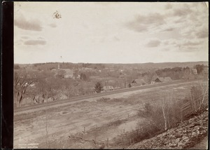 Wachusett Department, Nashua Reservoir site, view of West Boylston (compare with No. 7302), West Boylston, Mass., Apr.-May 1897